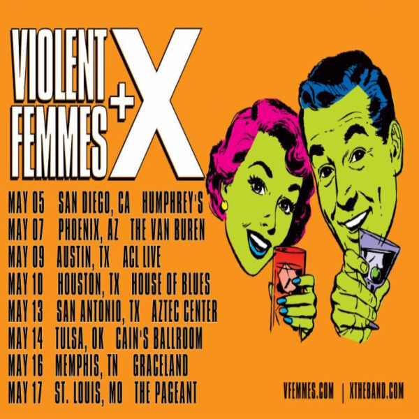 Violent Femmes & X [POSTPONED] at Danforth Music Hall