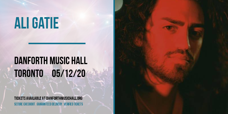 Ali Gatie [CANCELLED] at Danforth Music Hall